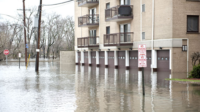 Flooded Multi Residential Building